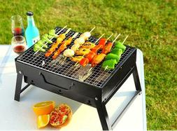 Portable BBQ Grill Kebab Barbecue Charcoal Stainless Steel S