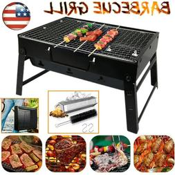 Portable Folding Charcoal BBQ Barbecue Grill Travel Picnic C