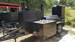 Sink Setup BBQ Smoker Grill Trailer Catering Business Mobile