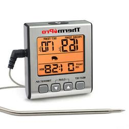 ThermoPro Digital Meat Thermometer Smoker Grill Oven BBQ Kit
