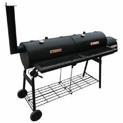 vidaXL Smoker BBQ Black Meat Grill Thermometer Outdoor Barbe