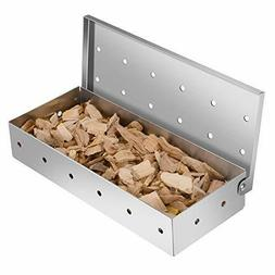 Smoker Box for Grill BBQ Wood Chips- Large Capacity Thick St