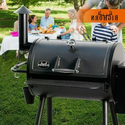 Pellet Grill Wood BBQ Grill Smoker Dual-Function Auto Temper