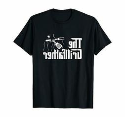 The Grillfather BBQ Grill & Smoker Barbecue Chef T-Shirt Gif