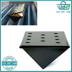Triangular Smoker Box With Lid Non Stick V Shaped Wood Chip