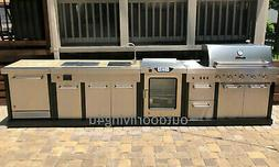 Ultimate Outdoor Kitchen w/ SMOKER, GRILL, SINK, REFRIGERATO