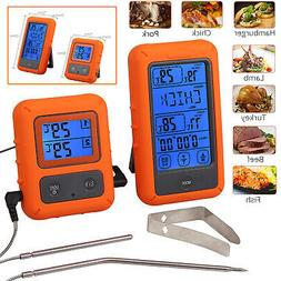 Wireless Digital Meat Thermometer Dual Probes For Grilling B