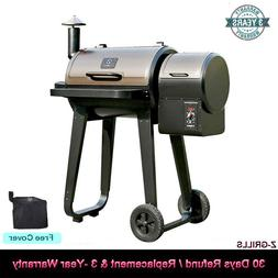 Z GRILLS wood pellet grill and smoke over 8-in-1 grill Auto